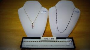 Hodinářství a klenoty Soukupovi Olomouc Povel ukázka zboží příjemné ceny levné zlato řetízky šperky